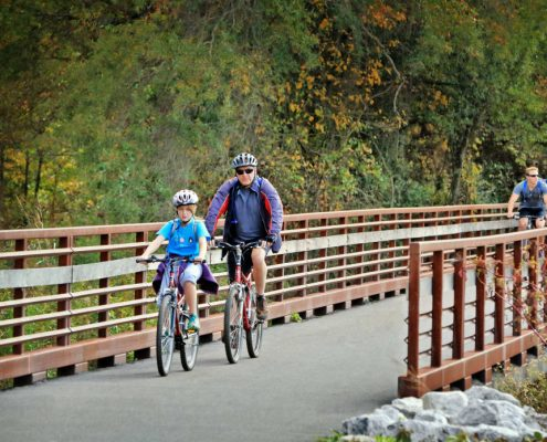 The 20-mile Swamp Rabbit Trail has brought boosted tourism to Greenville.