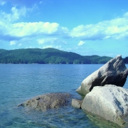 View of Lake Jocassee in Upstate SC
