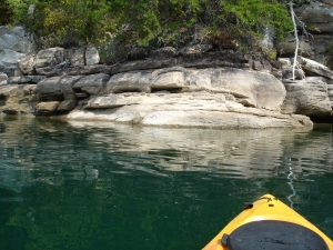 A hidden cove on Lake Jocassee